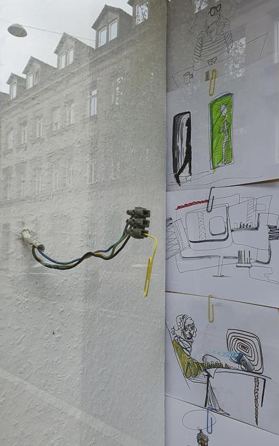 2020, Egokabinettscheibe, SCHAUfenster Atelier Sohler